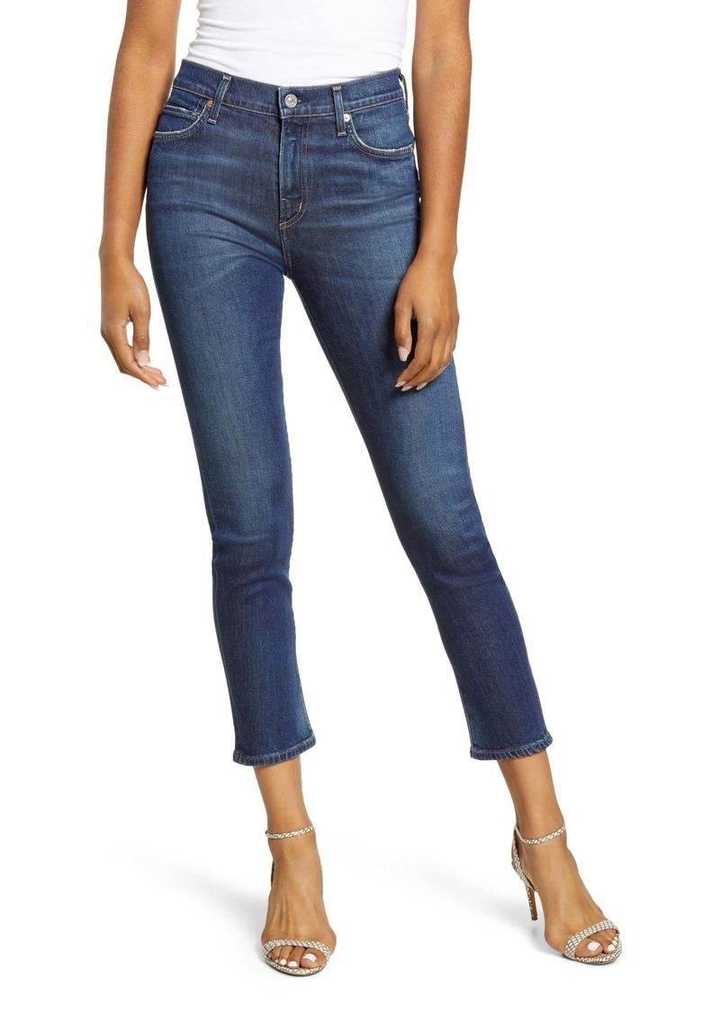 Citizens of Humanity Harlow High Waist Ankle Slim Jeans (Gleams)