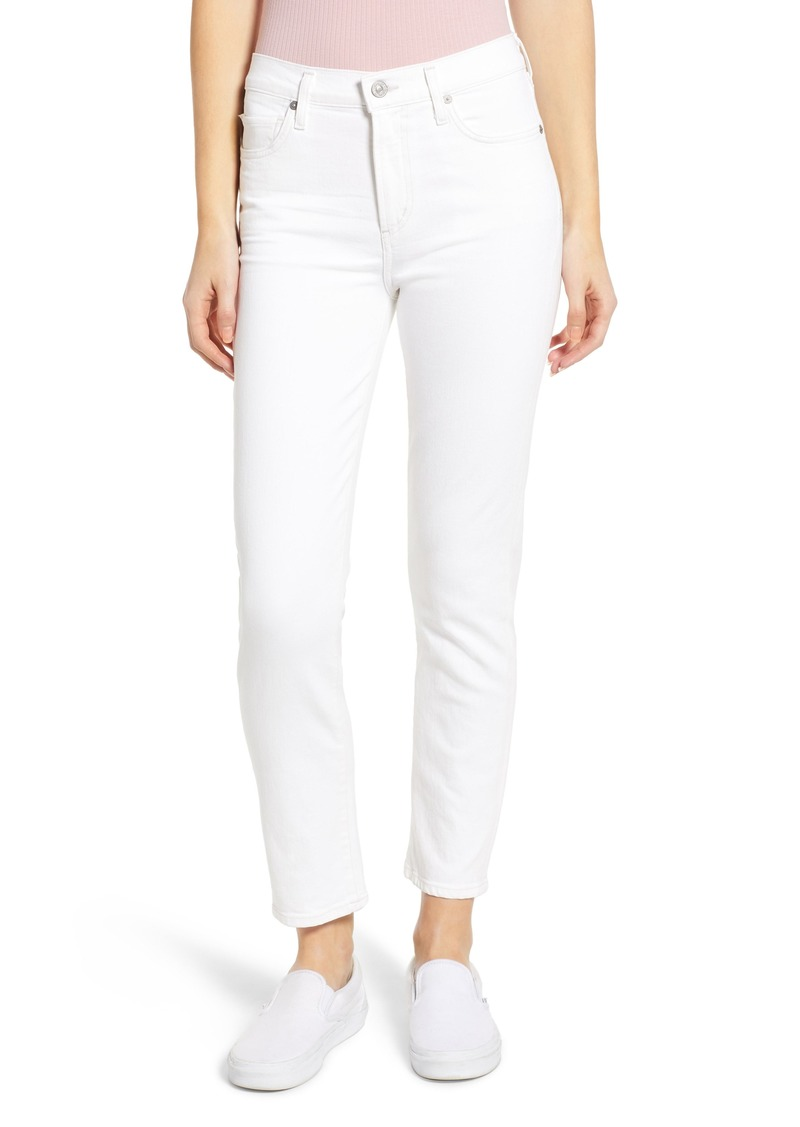 Citizens of Humanity Harlow High Waist Ankle Slim Jeans (Sea Salt)