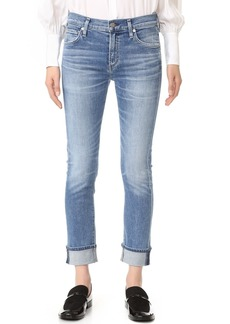 Citizens of Humanity Jazmin Ankle Cuffed Slim Straight Jeans