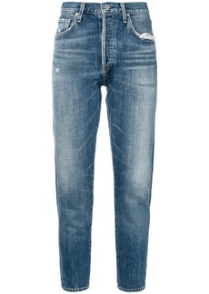 Citizens Of Humanity Liya cropped tapered jeans - Blue