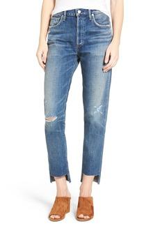 Citizens of Humanity Liya High Waist Step Hem Boyfriend Jeans (Trouble Maker)
