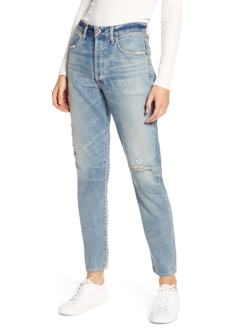 Citizens of Humanity Liya High Waist Distressed Slim Jeans (Desperado)