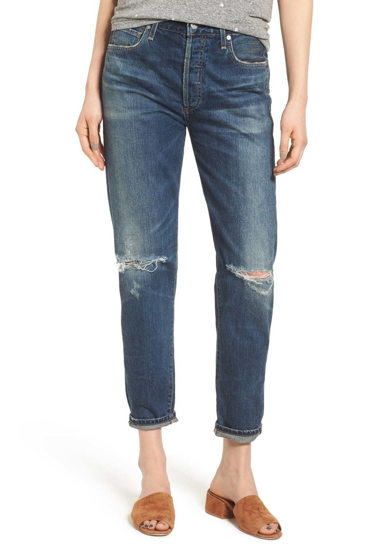 Citizens of Humanity Liya High Waist Ripped Boyfriend Jeans (Shangri-La)