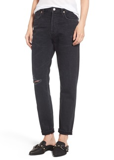 Citizens of Humanity Liya High Waist Slim Boyfriend Jeans (Distressed Outsider)