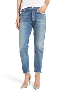 Citizens of Humanity Liya High Waist Slim Boyfriend Jeans (Fade Out)