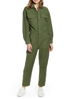Citizens of Humanity Marta Long Sleeve Cotton Twill Utility Jumpsuit