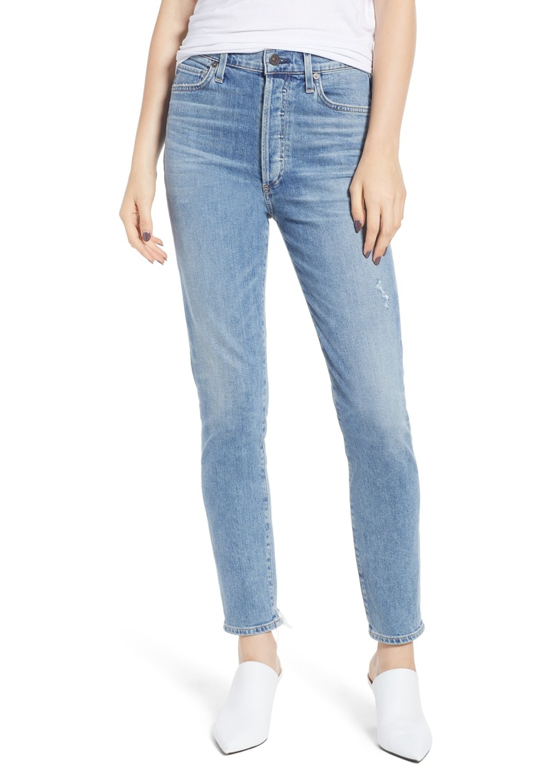 Citizens of Humanity Olivia High Waist Ankle Slim Jeans (Back Road)
