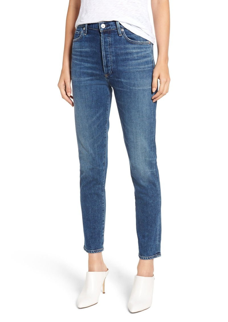 Citizens of Humanity Olivia High Waist Ankle Slim Jeans (Solo)