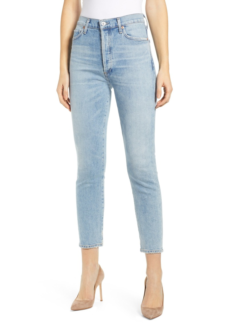 Citizens of Humanity Olivia High Waist Crop Slim Jeans (Renew)