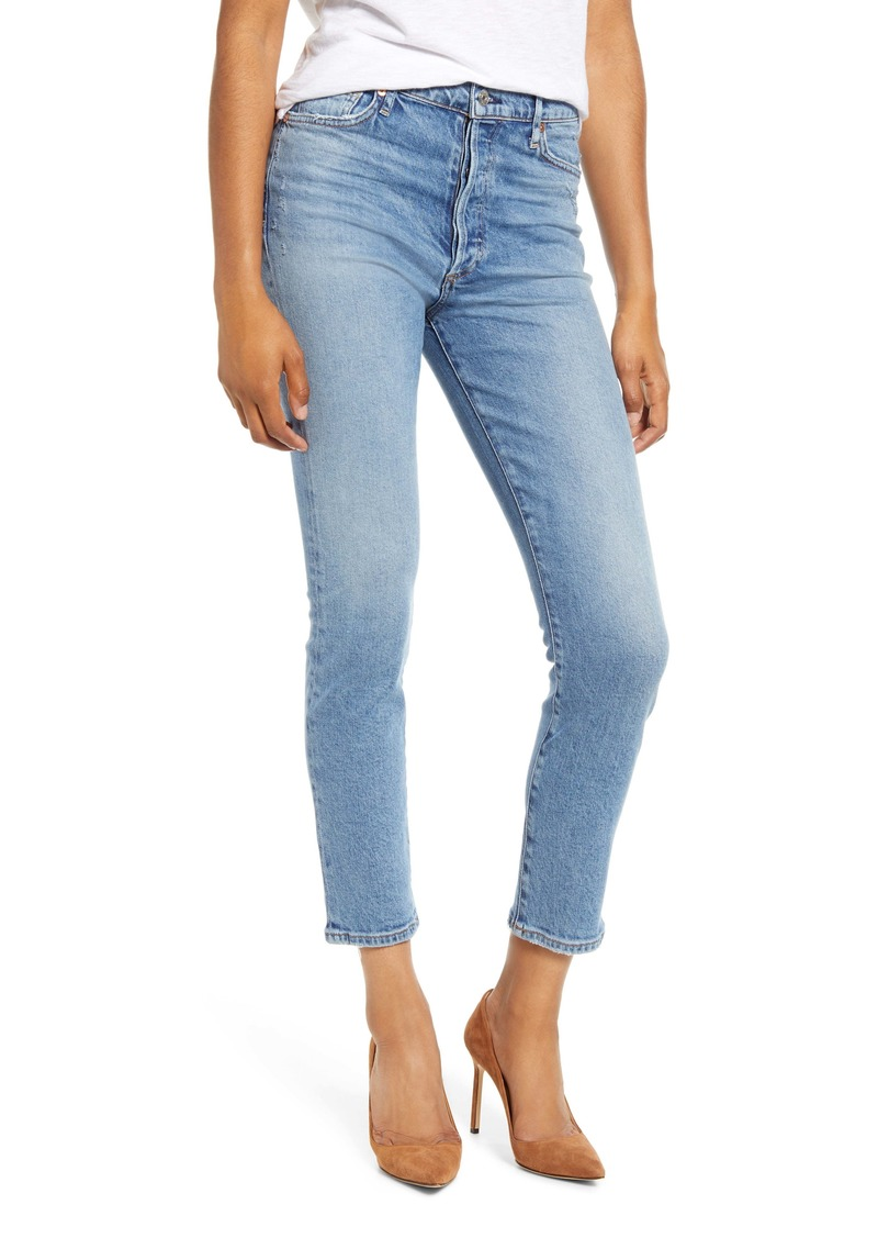 Citizens of Humanity Olivia High Waist Slim Ankle Jeans (Chit Chat)