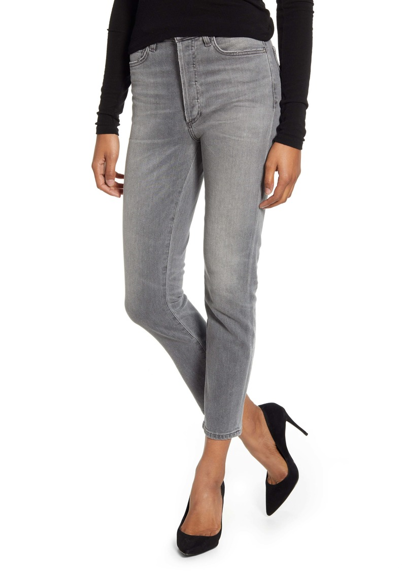 Citizens of Humanity Olivia High Waist Slim Ankle Jeans (Granite)