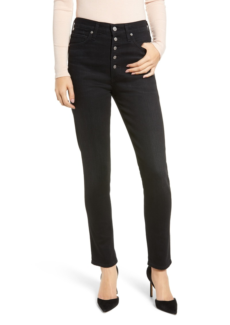 Citizens of Humanity Olivia High Waist Slim Jeans (Licorice)