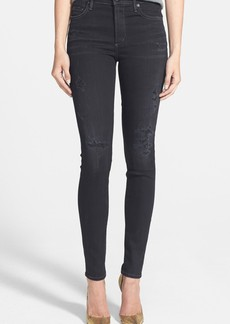 Citizens of Humanity Rocket Distressed High Waist Skinny Jeans (Porter)