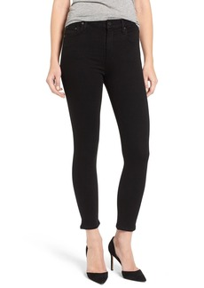 Citizens of Humanity Rocket High Rise Crop Skinny Jeans (All Black)