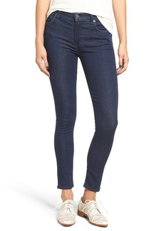 Citizens of Humanity 'Rocket' High Rise Skinny Jeans (True Indigo) (Petite)