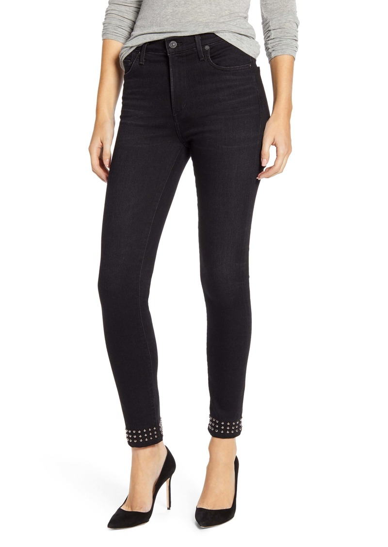 Citizens of Humanity Rocket High Waist Ankle Skinny Jeans (Banded Black)