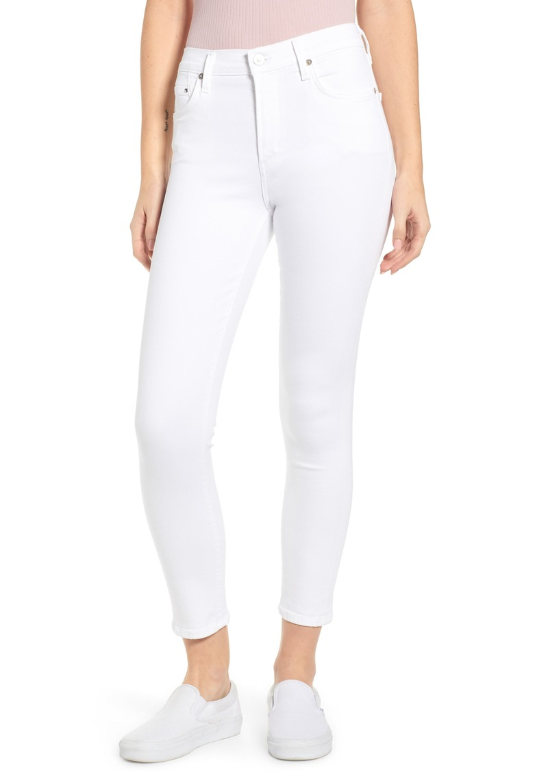 Citizens of Humanity Rocket High Waist Ankle Skinny Jeans (White Sculpt)