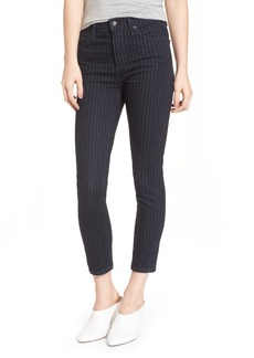 Citizens of Humanity Rocket High Waist Crop Skinny Jeans (Pinstripe)