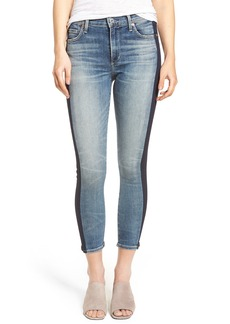 Citizens of Humanity Rocket High Waist Crop Skinny Jeans (Shadow Stripe)
