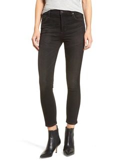 Citizens of Humanity Rocket High Waist Crop Skinny Jeans (Shadow Stripe Darkness)