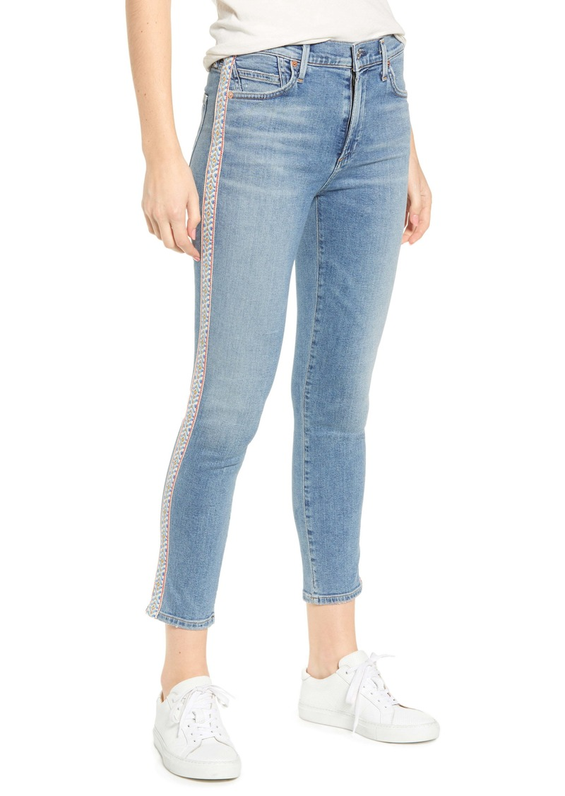 Citizens of Humanity Rocket High Waist Crop Skinny Jeans (Soto Stripe)
