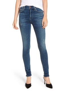 Citizens of Humanity Rocket High Waist Raw Release Hem Skinny Jeans (Down Low)