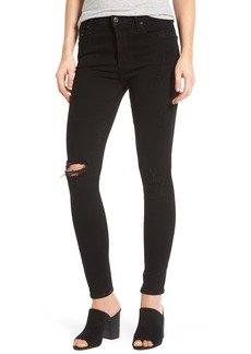 Citizens of Humanity Rocket High Waist Skinny Jeans (Black Echoes)