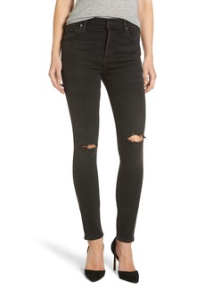 Citizens of Humanity Rocket High Waist Skinny Jeans (Distressed Darkness)