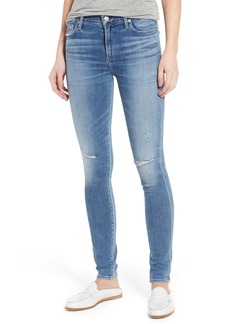 Citizens of Humanity Rocket High Waist Skinny Jeans (Distressed Pacifica)
