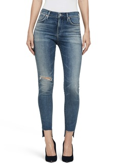 Citizens of Humanity Rocket High Waist Step Hem Skinny Jeans (Roseland)