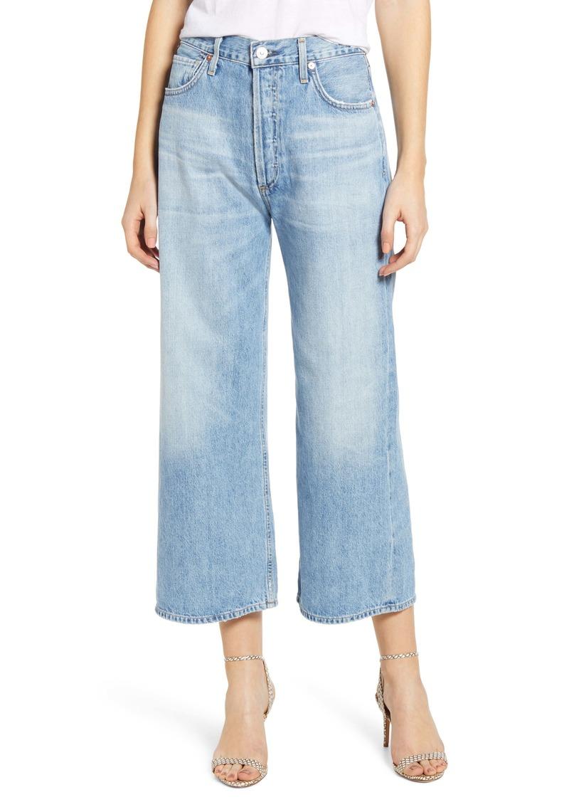 Citizens of Humanity Sacha High Waist Crop Wide Leg Jeans (Tularosa)