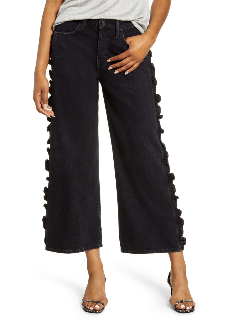 Citizens of Humanity Sara High Waist Ruffle Wide Leg Jeans (Last Dance)