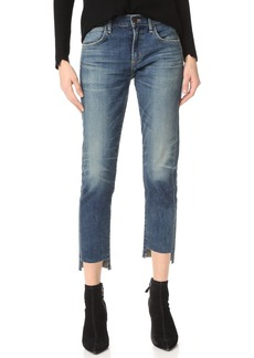 Citizens of Humanity The Principle Girlfriend Jeans with Raw Hem