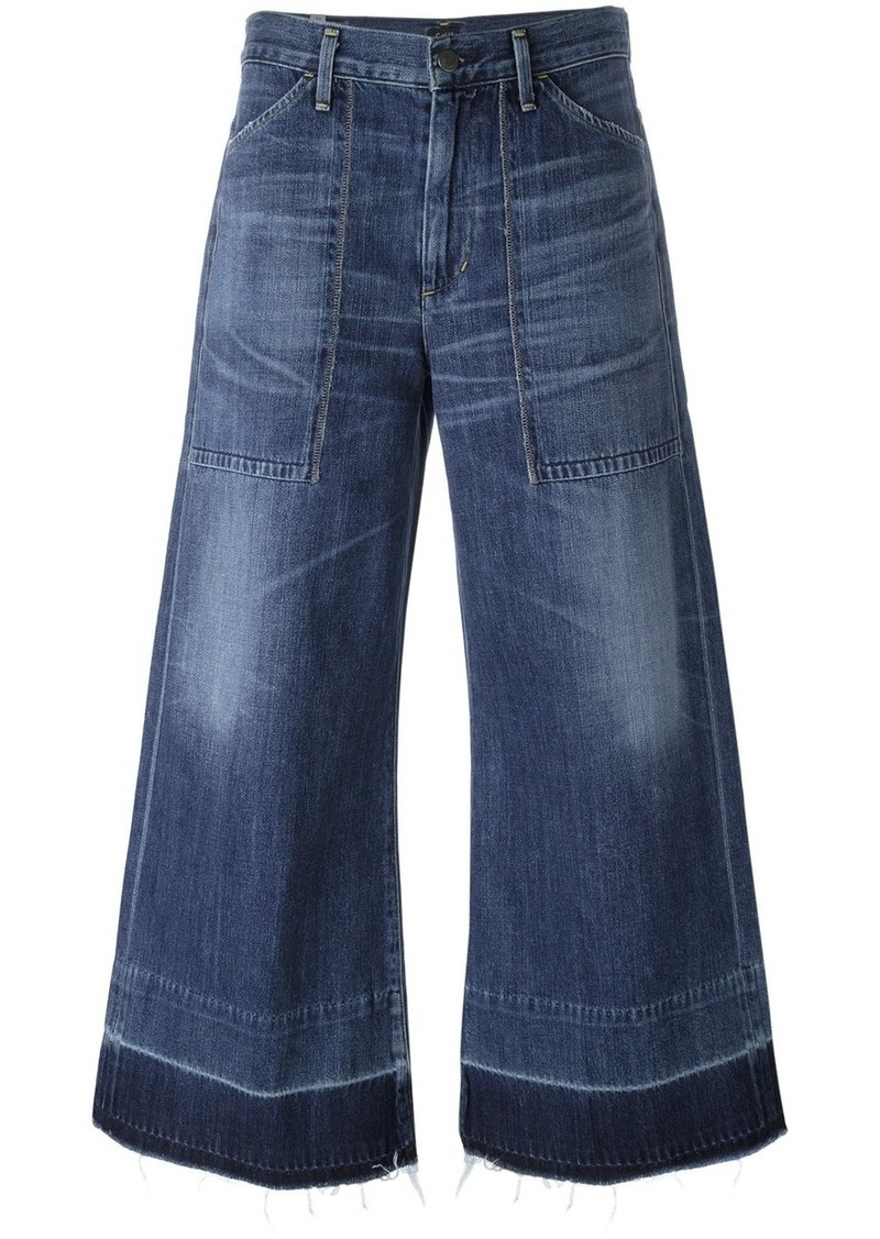 Citizens Of Humanity wide leg cropped jeans - Blue