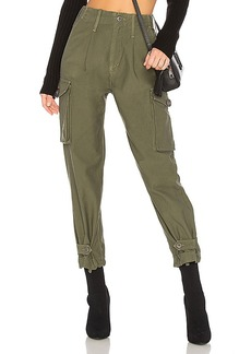 Citizens of Humanity Zoey High Waist Cargo Pant in Green. - size 24 (also in 25,26,28,29)