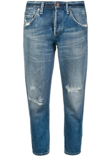Citizens of Humanity cropped distressed jeans