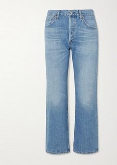 Citizens of Humanity Emery Organic Cropped High-rise Straight-leg Jeans
