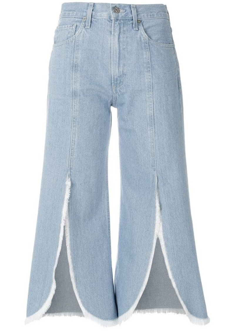 Citizens of Humanity front slit cropped jeans