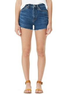 Citizens of Humanity Kristen High-Rise Frayed Denim Shorts