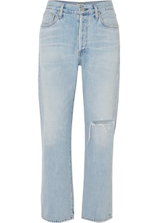 Citizens of Humanity Mckenzie Distressed Mid-rise Straight-leg Jeans
