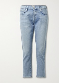 Citizens of Humanity Net Sustain Emerson Cropped Distressed Organic Mid-rise Straight-leg Jeans