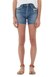 Citizens of Humanity Nikki Patchwork Raw Shorts