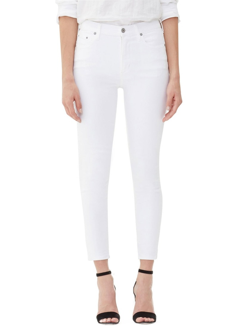Citizens of Humanity Rocket Crop High-Rise Skinny Jeans  White Sculpt
