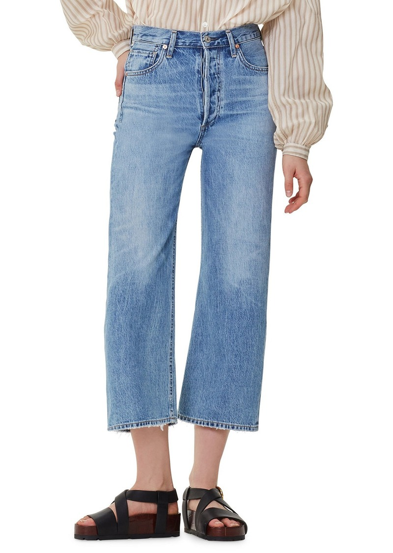 Citizens of Humanity Sacha High-Rise Wide-Leg Crop Jeans