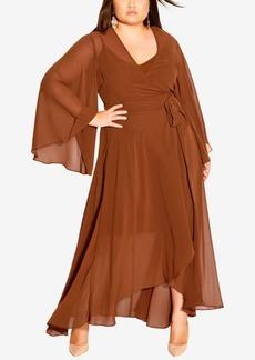 City Chic Plus Size Fleetwood Maxi Dress