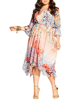 Plus Size Women's City Chic Adisa Off The Shoulder Dress