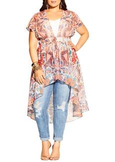 Plus Size Women's City Chic Adisa Tie Waist Tunic
