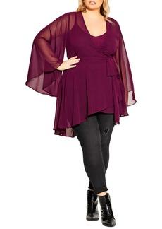 Plus Size Women's City Chic Fleetwood Chiffon Tunic