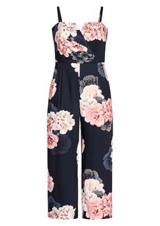 Plus Size Women's City Chic Floral Jumpsuit