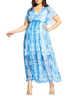 Plus Size Women's City Chic Mykonos Midi Dress